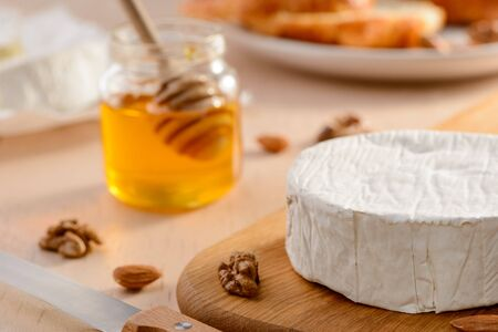 Whole brie cream cheese, nuts