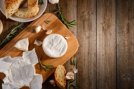 Top view on breakfast ingredients