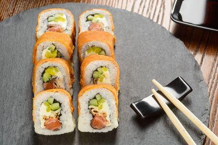 Tofu and Unagi sauce rolls