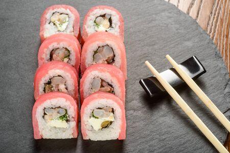 Cream cheese and shrimp rolls