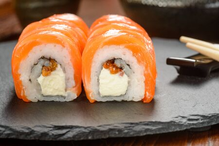 Sushi with cream cheese