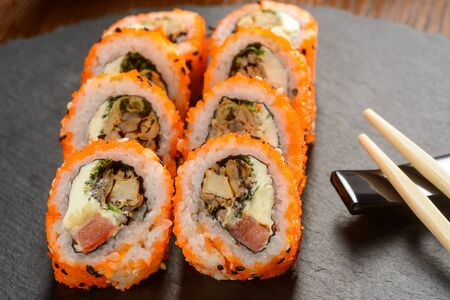 Rolls sprinkled with sesame seeds 스톡 콘텐츠