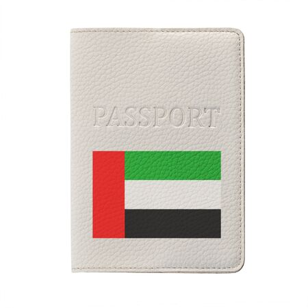 UAE passport isolated on white background. Travel document