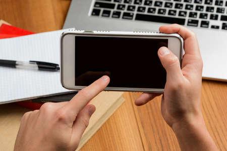 Man using a smart phone. Mockup image