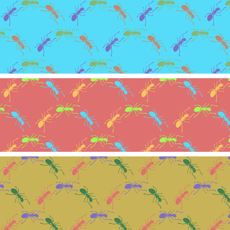antennae: Ants color seamless pattern
