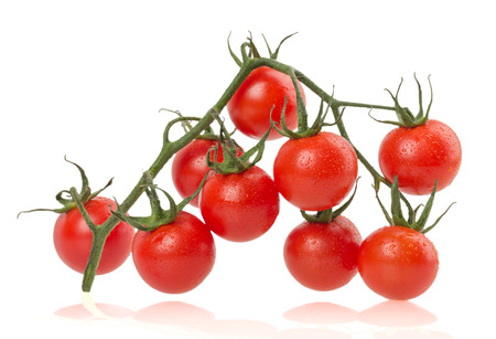 no way out: Ripe tomatoes on white background.