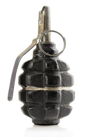 granade: grenade on white .