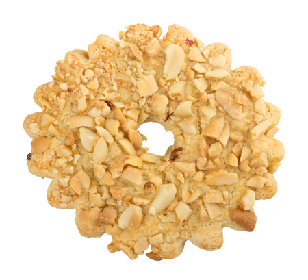 sprinkled: biscuits sprinkled with nuts.