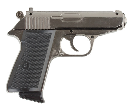 gun on white .