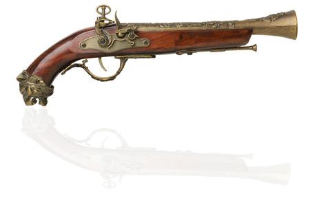 Old gun isolated on white photo