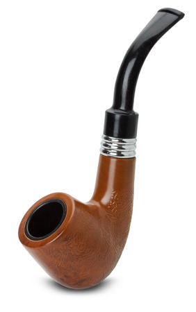 sherlock holmes: tobacco pipe isolated on the white background.