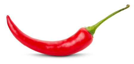red chili pepper on white background.