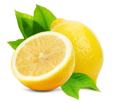 juicy: juicy lemons isolated on the white background. Stock Photo