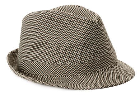 stylish mens hat isolated on the white background. photo