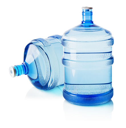 Two big bottles of water isolated on the white background. Stock Photo