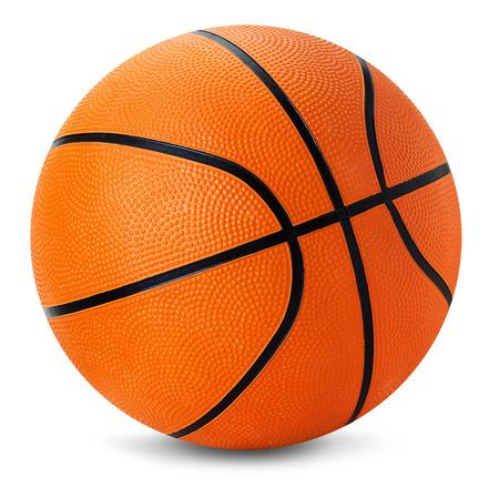 balon baloncesto: pelota de baloncesto aislado en el fondo blanco.