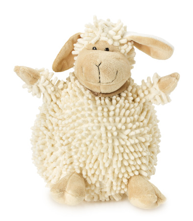 sheep toy isolated on the white background.