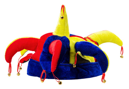 jester hat: jester hat isolated on the white background. Stock Photo