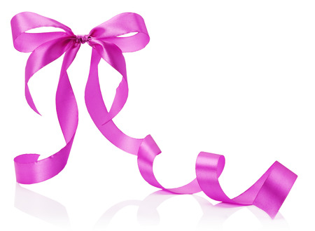 pink bow: pink bow isolated on the white background.