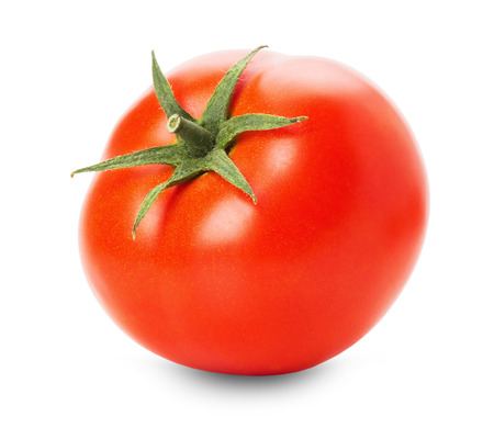 tasty tomato isolated on the white background.