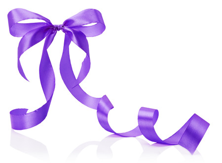 purple bow isolated on the white background. photo