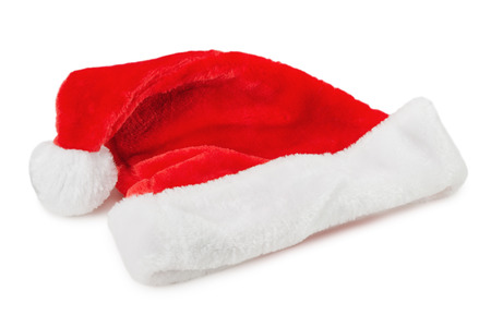 santa clause hat: Santa Clause hat isolated on the white background.