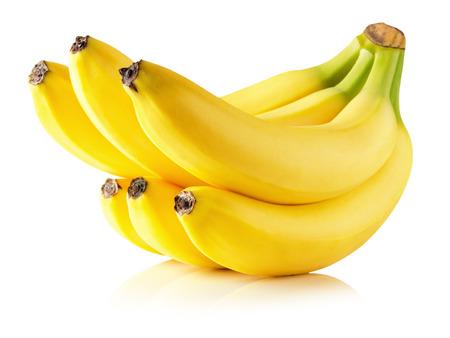 tasty bananas isolated on the white background.