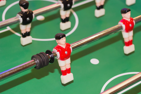 foosball: foosball  table. Stock Photo