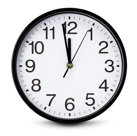 time clock: watch isolated on the white background. Stock Photo