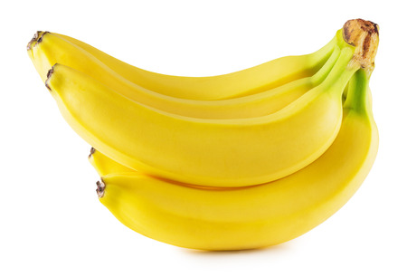 tasty bananas isolated on the white background.