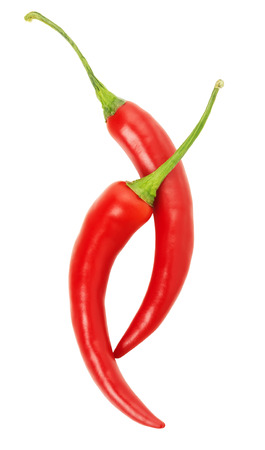 red chilly: red chilly pepper isolated on the white background.