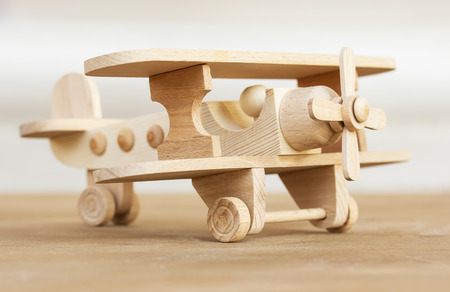 wooden model of plane. photo