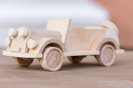 little wooden car model. photo
