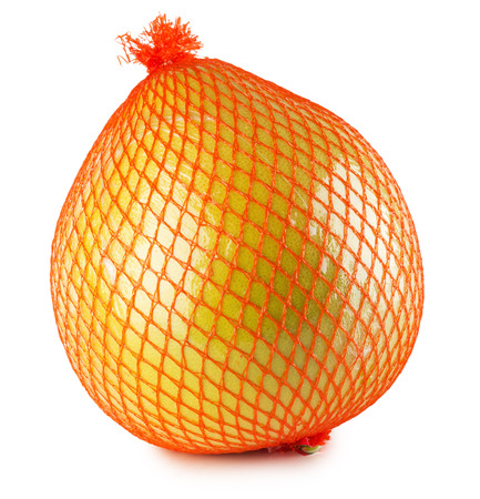 Pomelo or Chinese grapefruit isolated on the white background. photo