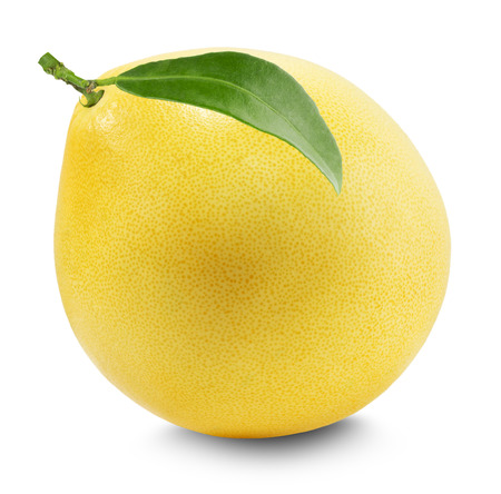 pomelo: Pomelo or Chinese grapefruit isolated on the white background.