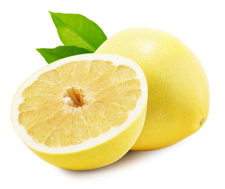 toronja: Pomelo o pomelo chino aislado en el fondo blanco. Foto de archivo