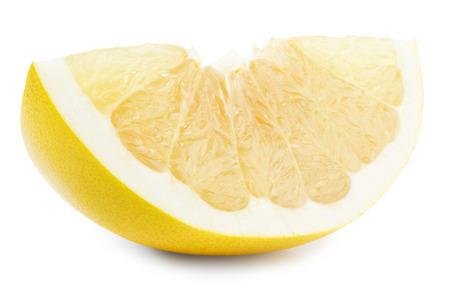 freshest: Pomelo or Chinese grapefruit slice isolated on the white background. Stock Photo