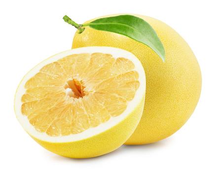 ザボンや中国のグレープ フルーツは白い背景に分離されました。