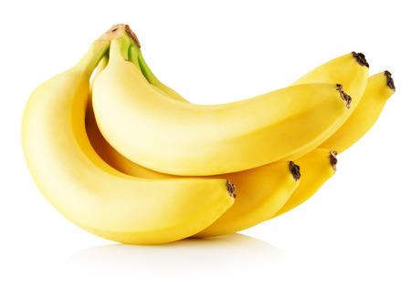banane: bananes fraîches isolés sur un fond blanc. Banque d'images