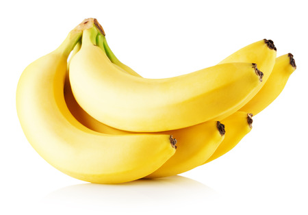 fresh bananas isolated on a white background.