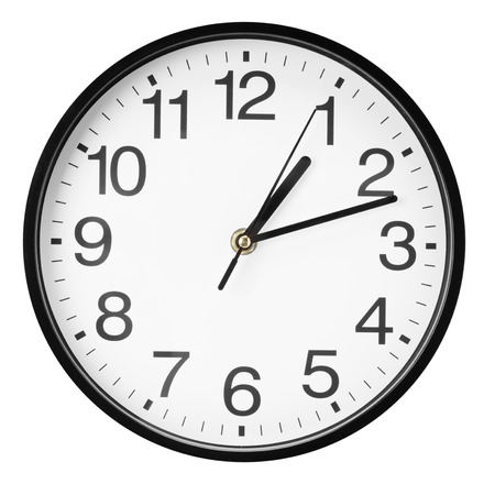 clock: wall clock isolated on the white background. Stock Photo