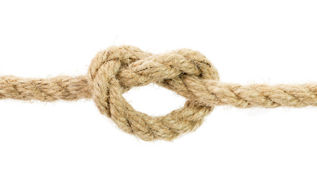 rope knot: rope knot isolated on the white background.
