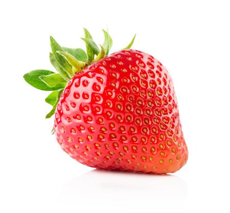 딸기는 흰색 배경에 고립입니다. 스톡 콘텐츠