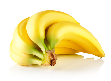 fresh bananas isolated on the white background. 版權商用圖片