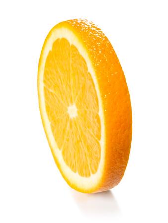 sweet orange: orange slice isolated on the white background. Stock Photo