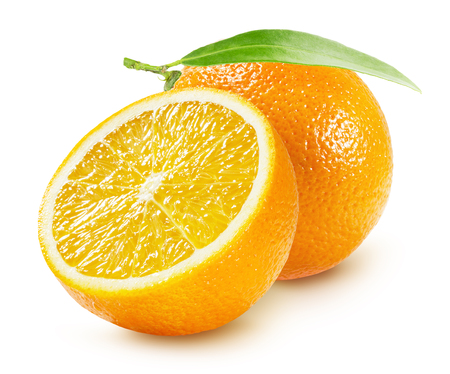 oranges isolated on the white background. 版權商用圖片