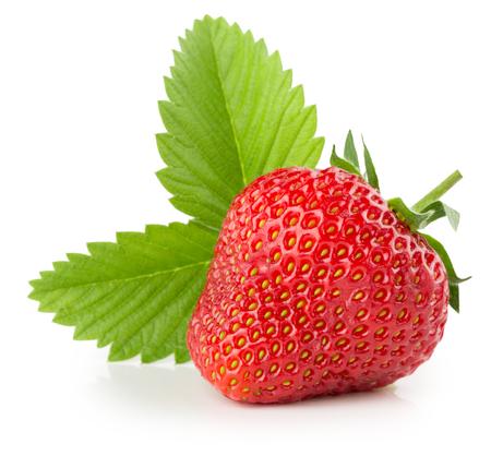イチゴは、白い背景で隔離。 写真素材