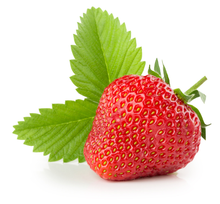 fraises isolé sur le fond blanc.