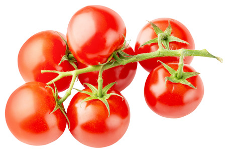 tomato: cherry tomatoes isolated on the white background.