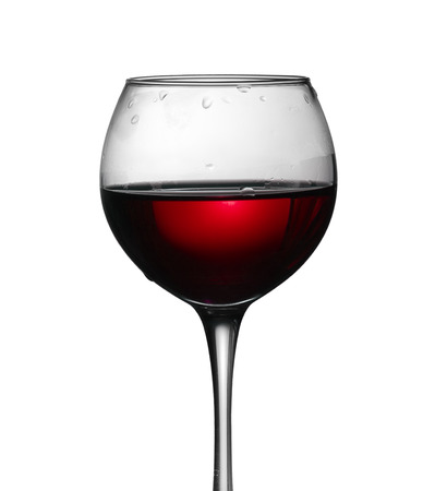 glass of red wine: glass of red wine isolated on the white background.